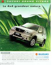 PUBLICITE ADVERTISING 115  2004  SUZUKI   le 4X4  Grand Vitara