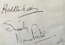 HEDDLE NASH / NORMA PROCTER OPERA SINGERS CLEAR GENUINE AUTOGRAPHS