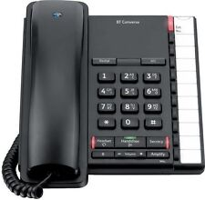 BT Converse 2200 Corded Telephone - Black Landline Phone Office Telephone