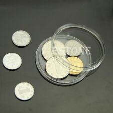 10 PCS Applied Clear Round Cases Coin Storage Capsules Holder Round Plastic 50mm