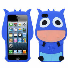 For Apple iPhone 5 5S SE Rubber SILICONE Soft Gel Skin Case Phone Cover Blue Ox