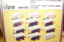 HO Preiser 17219 UNPAINTED Banquet and Buffet Tables and Chairs KIT