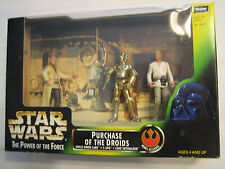 Star Wars - Power of the Force - Purchase of the Droids C-3PO Luke Uncle Figure