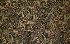 MILL CREEK LYNMAR NIGHT GREEN BLUE RED PAISLEY WOVEN FURNITURE FABRIC BY YARD