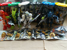 COMPLETE SET OF LEGO BIONICLE STARS + TUBS & ORIGINAL INS 7116 7117 7135-7138