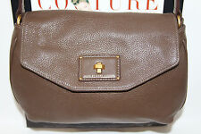 MARC BY MARC JACOBS TURNLOCK FLAP MED MOCHA LEATHER CROSSBODY MSRP $348
