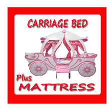 NEW GIRLS BEDS  THE PRINCESS CASTLE CARRIAGE BED FOR KIDS + MATTRESS