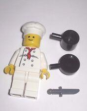 Lego Minifigure Chef w/ Pot Pan & Knife Parisian Restaurant (10243)