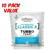 CLASSIC 8 Turbo Yeast Still Spirits 10 Pack Home Brewing