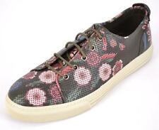 NEW GUCCI MEN'S 342049 PERFORATED FLORAL LEATHER SNEAKERS SHOES 9 9.5