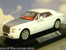 SUPERB IXO 1/43 DIECAST 2008 ROLLS ROYCE PHANTOM COUPE IN WHITE MOC130P