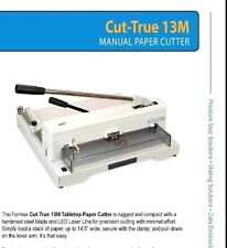 Formax CUT-TRU 13M Ream Stack Paper Cutter - table top - Authorized Dealer