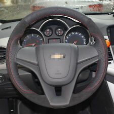 Anti Slip Swede Leather Steering Wheel Stitch on Wrap Cover For Chevrolet Cruze