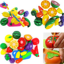 1 Set Funny Kitchen Food Play Toy Cutting Fruit Vegetable For Children Kids Gift