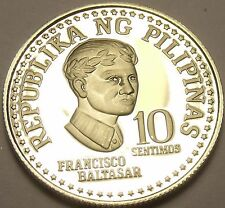 Rare Proof Philippines 1979 10 Sentimos~Only 3,645 Minted~Bank Seal~Free Ship