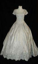 "Silver Queen Princess Southern Belle Theatre Halloween Costume Gown 34"" Bust"