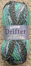 100g Drifter Chunky Knitting Wool Yarn Cotton Mix Multi Chunky King Cole