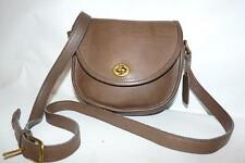 Vintage Coach Light Brown Leather WATSON Crossbody Bag Purse #9981 Hang Tag