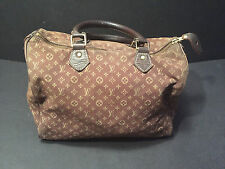louis vuitton 30 brown logo speedy bag