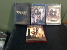 LORD OF THE RINGS 4 DVD'S 10 DISCS FELLOWSHIP OF THE RING EXTENDED RETURN TOWERS