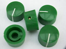 5 Green 20mm potentiometer knobs guitar amplifier radio pot knob + screw