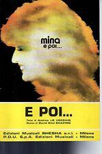 SC19 SPARTITO Mina- E poi... Canto mandolino fisarmonica