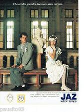 PUBLICITE ADVERTISING 016  1982  JAZ   pendules réveils