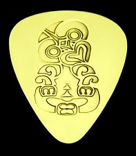 Maori Hei Tiki - Good Luck - Solid Brass Guitar Pick, Acoustic, Electric, Bass