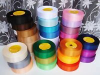 2m 5m 10m Satin 25mm wide Ribbon 26 Colours Craft Bridal Sewing