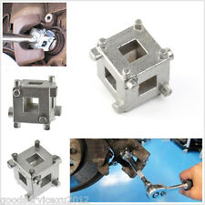 "Steel Car Van Brake Disc Piston Cube 3/8""D Rewind Tool Wind Calliper Adaptor Kit"