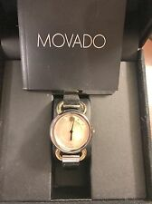 USED MOVADO LINIO TWO-TONE GOLD MOTHER OF PEARL WOMAN LADIES WATCH 0606552