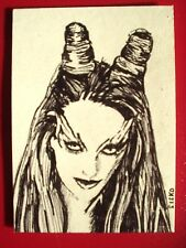 ACEO Sketch Card Uma Thurman as Poison Ivy 2 of 9