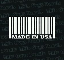 made in usa bar code vinyl decal car window sticker car graphics