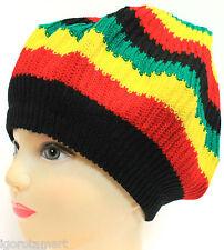 ADULT JAMAICAN RASTA HAT BOB MARLEY CARIBBEAN BERET CAP HATS