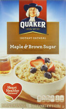Quaker Instant Oatmeal Maple Brown Sugar 1.51 oz., 1 Package, 10-Count Box