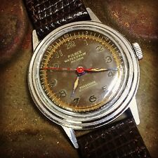 Vintage Rare 1940s Military WWII Pierce Parashock Manual Tropical Dial Watch