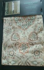 New CYNTHIA ROWLEY Floral 2 LINEN Curtain window PANELS Teal Green Tan 96""