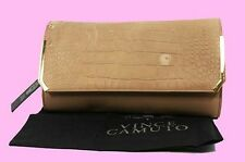 Vince Camuto MAE Taupe Leather Clutch Bag Msrp $148.00