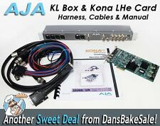 AJA KONA LHe PCI Card and KLBox With Breakout Harness, Cables & Manual - NICE!