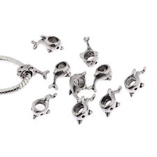 dolphin tibetan Silver European charms alloy bead fit Bracelets 10pcs 5mm hole