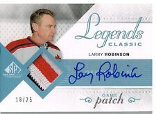 07-08 SP Game Used LEGENDS PATCH xx/25 Made! Larry ROBINSON - Canadiens