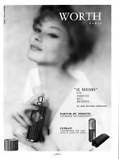 "▬► PUBLICITE ADVERTISING AD PARFUM PERFUME  WORTH  "" JE REVIENS ""   de 1959"