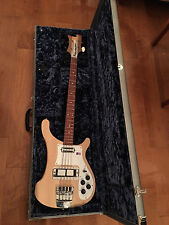2009 RICKENBACKER 4001C64S MAPLEGLO BASS RARE SATIN FINISH EXC SILVER TOLEX CASE