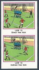 PANINI FOOTBALL 83-#516-LAW 13-DIRECT FREE KICK-INDIRECT FREE KICK