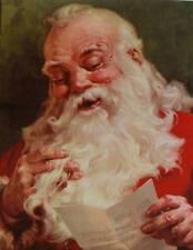vintage art Dear Santa Clause Christmas 11 x 14