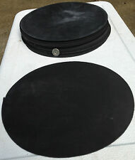"EPDM Rubber (Neoprene) Disc Gasket Material - 9"" Diameter x 3/32"" Thick - 2 Pcs."