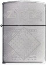 Zippo Windy Girl In a Diamond Satin Chrome Auto Engrave Windproof Lighter RARE