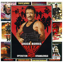 "Mini Posters [13 posters 8""x11""/A4] Chuck Norris Film Vintage Trash Movie MP461"