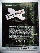 PUBLICITE-ADVERTISING :  IMPETUS Festival Belfort 2010  2010 Punish Yourself…
