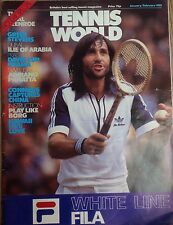 'Tennis World' UK Magazine Jan/Feb 1981-Ilie Nastase-A3 Poster Adriano Panatta